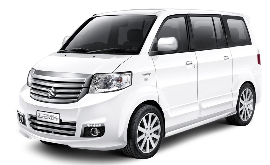 Foto menunjukkan Suzuki APV New Luxury warna putih