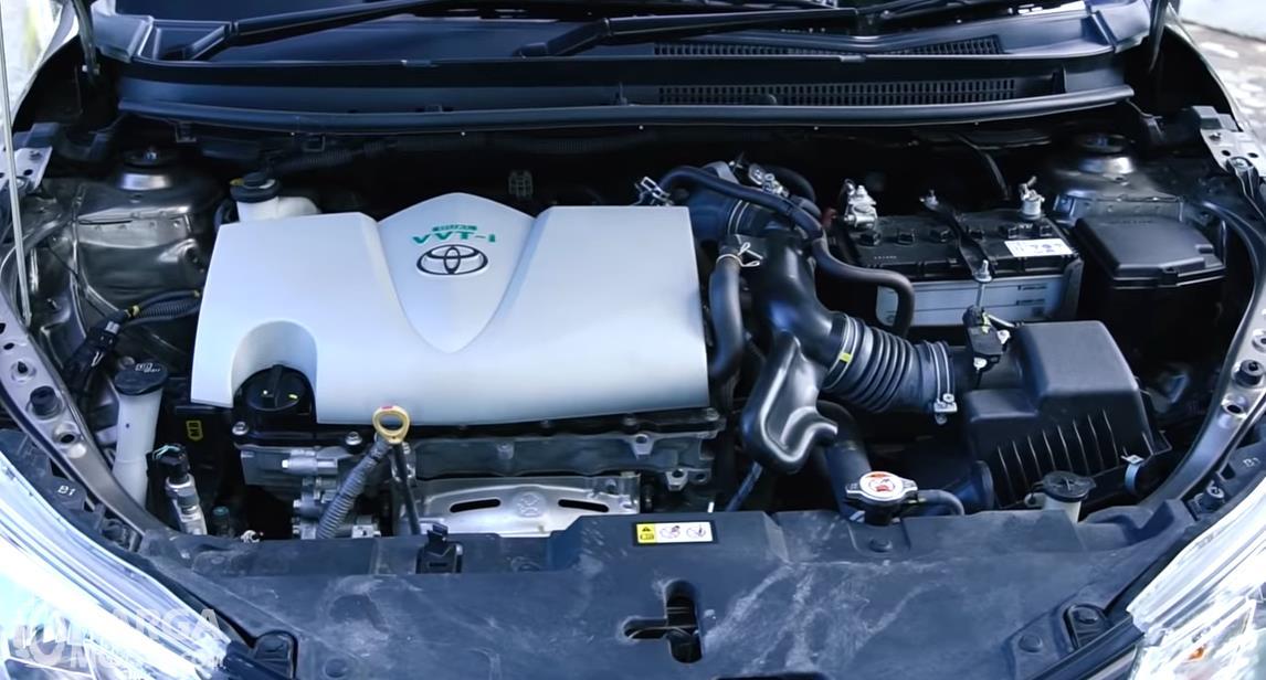 Foto menunjukkan Mesin Toyota Vios 1.5 E CVT 2019