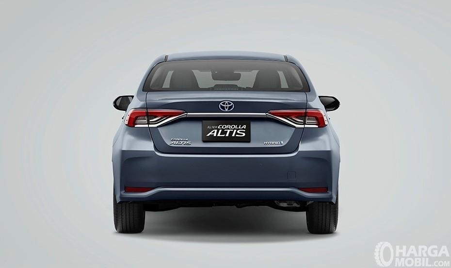 Tampilan belakang All New Toyota Corolla Altis Hybrid 2019