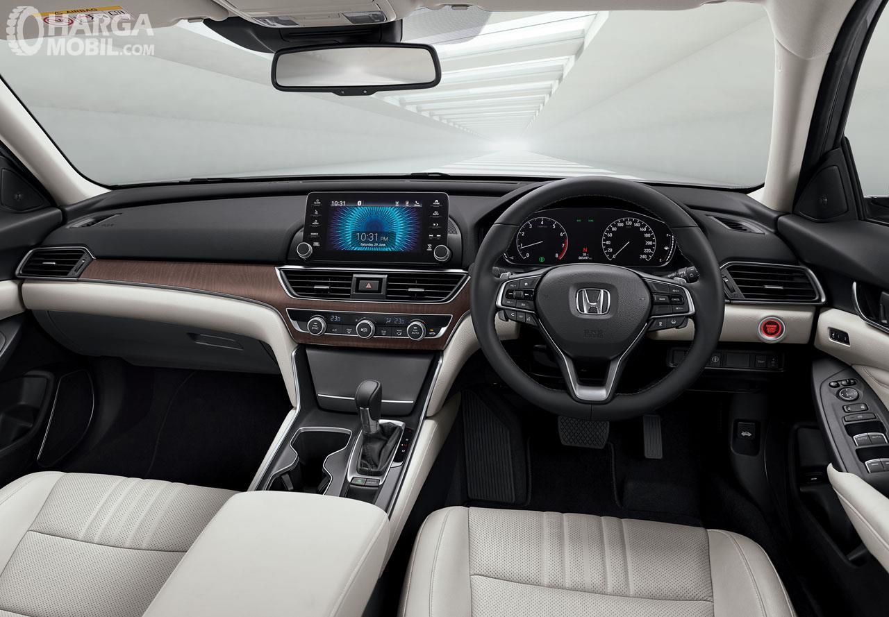 Foto Dashboard dan setir All New Honda Accord 2019