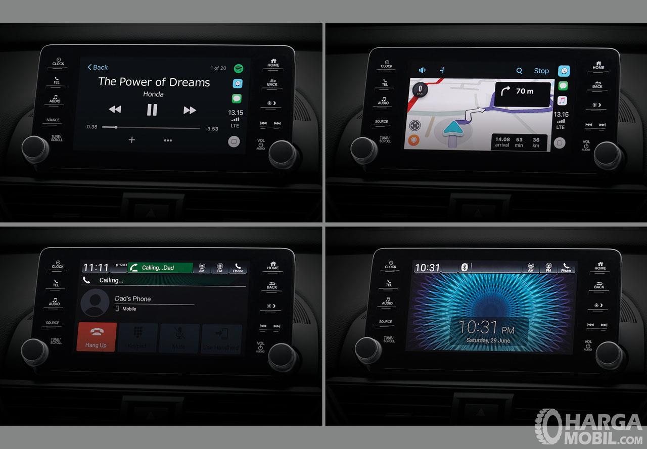 Foto menunjukkan beberapa fungsi utama Head unit All New Honda Accord 2019