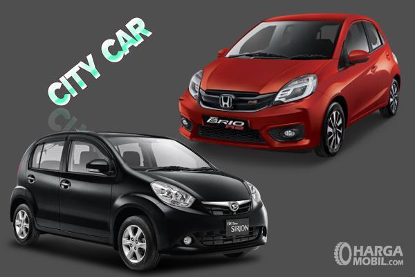 Gambar ini menunjukkan mobil dalam segmen City Car