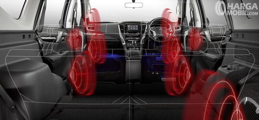 Gambar Sistem Audio Mitsubishi Pajero Sport RF Black Edition