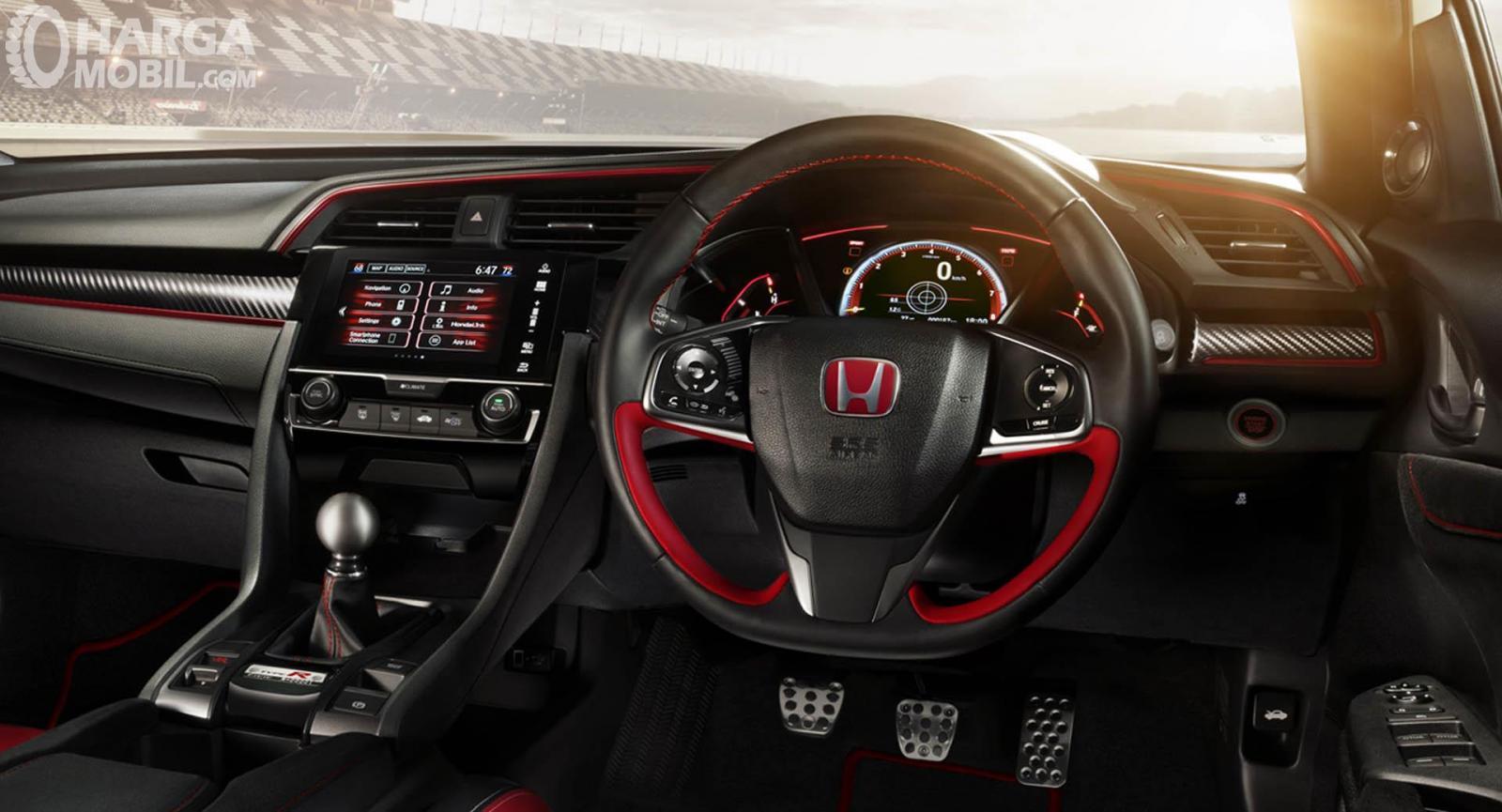 Foto menunjukkan Interior Honda Civic Type R