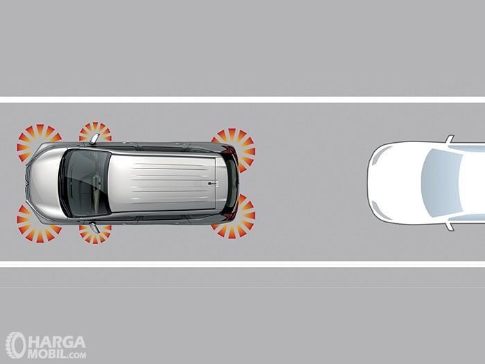 Gambar ilustrasi Emergency Stop Signal Mitsubishi Xpander Cross