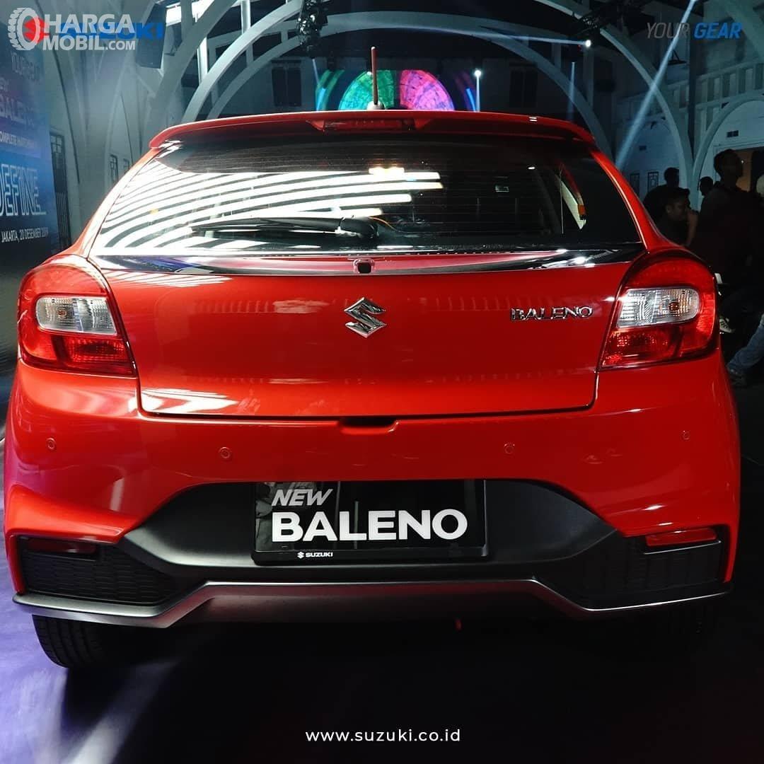Foto menunjukkan bagian belakang Suzuki New Baleno Hatchback 2019