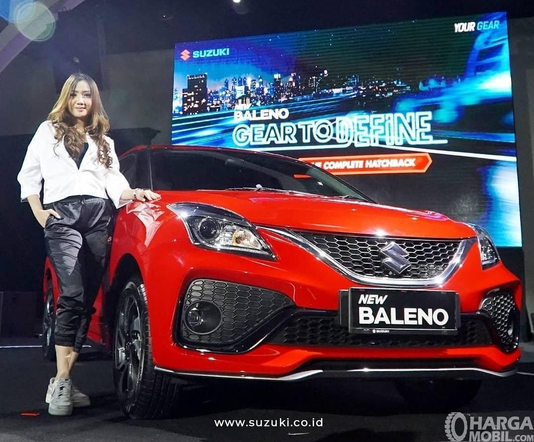 Foto menunjukkan bagian depan Suzuki New Baleno Hatchback 2019