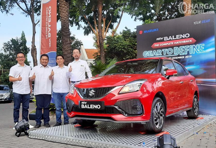 Foto menunjukkan suasana Peluncuran Suzuki New Baleno Hatchback di Surabaya