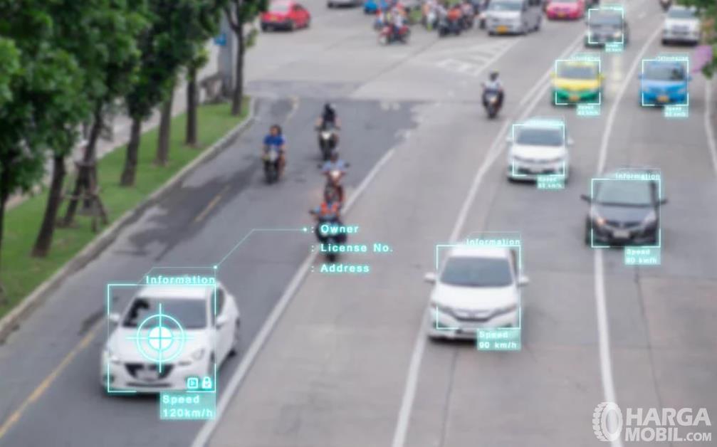 Gambar ini menunjukkan ilustrasi data mobil diambil dari CCTV