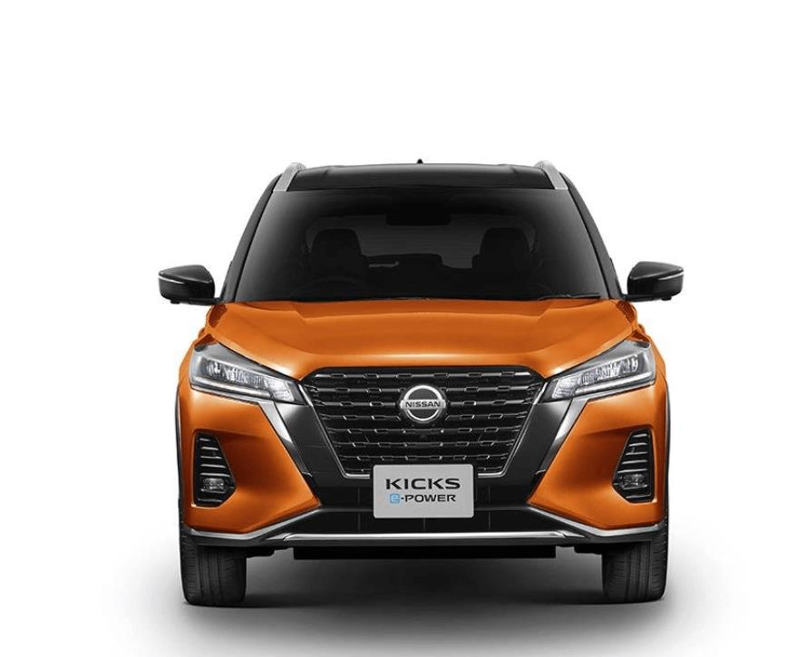 Gambar ini menunjukkan bagian depan mobil Nissan Kicks e-Power 2020