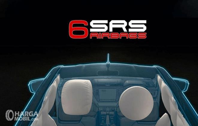 Gambar ini menunjukkan ilustrasi fitur SRS Airbag pada Isuzu D-Max V-Cross 2020