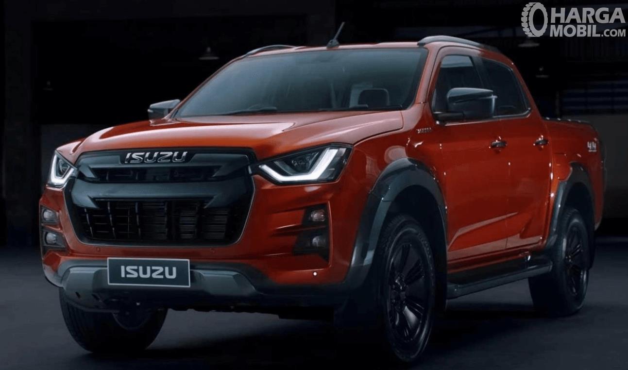 Gambar ini menunjukkan bagian depan mobil Isuzu D-Max V-Cross 2020