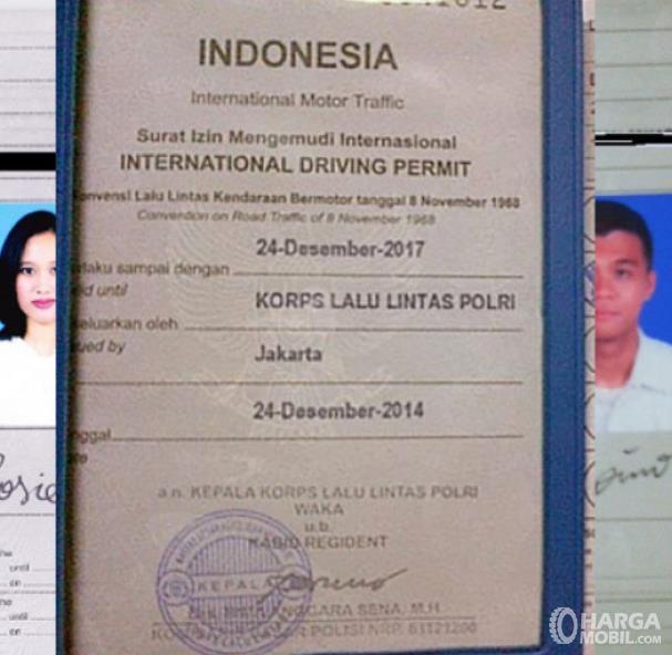 Gambar ini menunjukkan SIM Internasional Indonesia