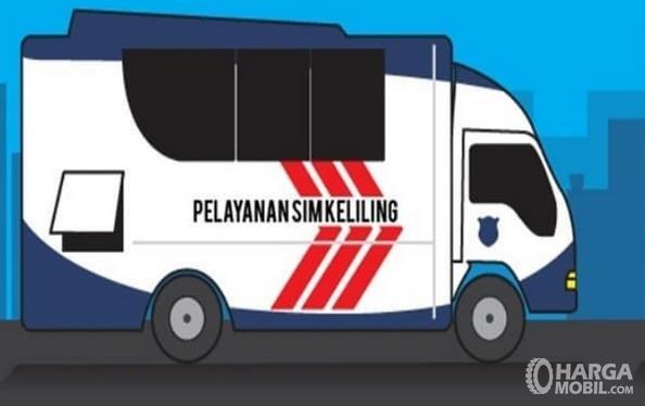 Ilustrasi Pelayanan SIM Keliling dengan menggunakan mobil