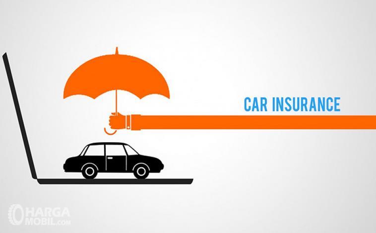 Gambar ini menunjukkan ilustrasi isuransi mobil