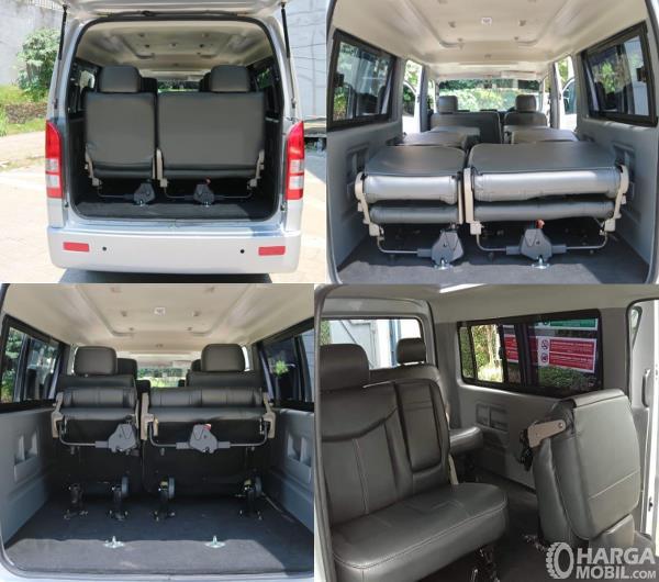 Gambar ini menunjukkan bagasi mobil Suzuki New Carry Minibus 2020