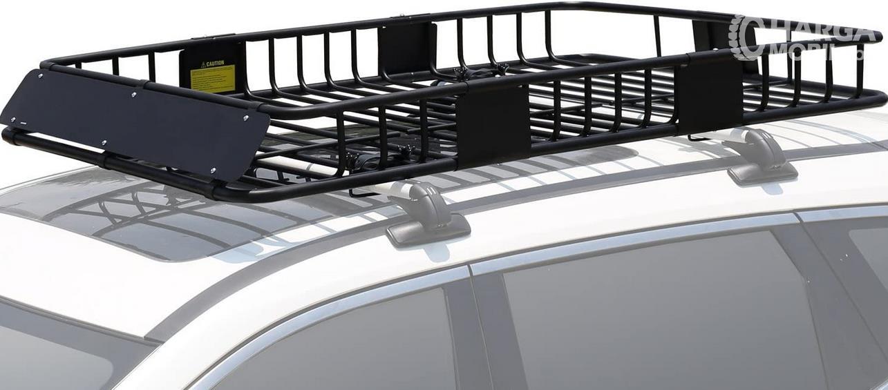 Gambar ini menunjukkan roof rack yang terdapat di atas mobil