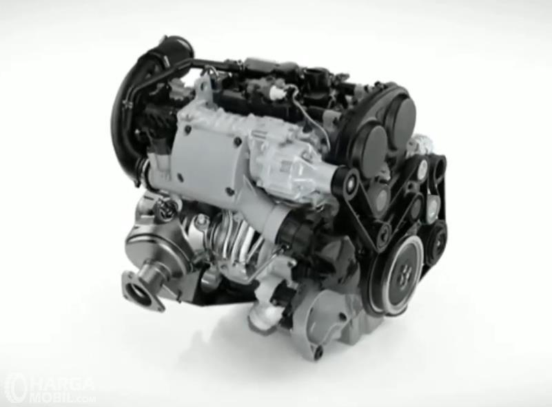 Gambar ini menunjukkan ilustrasi mesin 3 silinder untuk mobil