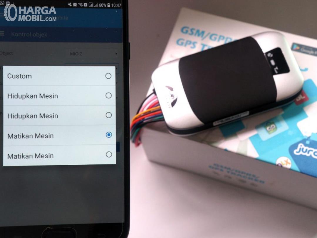 Gambar ini menunjukkan ponsel yang dapat mengoperasikan mesin kendaraan