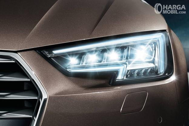 Gambar menunjukkan tampilan lampu LED mobil